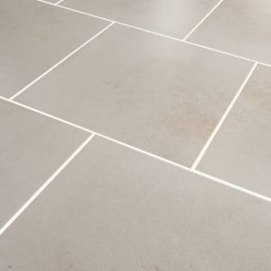Konkrete Ivory Matt Concrete effect Porcelain Floor tile  (L)426mm (W)426mm  Sample