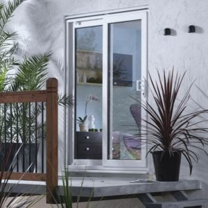 6ft White PVCu Unglazed Patio door frame
