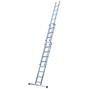 Werner 5.7m Pro 3 Section Aluminium Extension Ladder