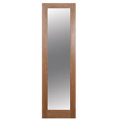 1 Panel Shaker Oak Veneer Glazed Internal Standard Door  (H)1981mm (W)579mm