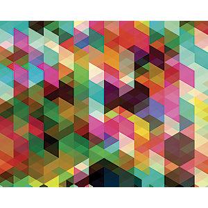 ohpopsi Colourful Geometric Mosaic Wall Mural - L 3m (W) x 2.4m (H)